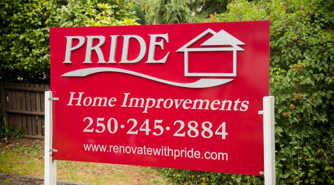Pride Renovations sign