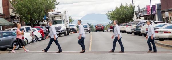 Paul Mycroft walking