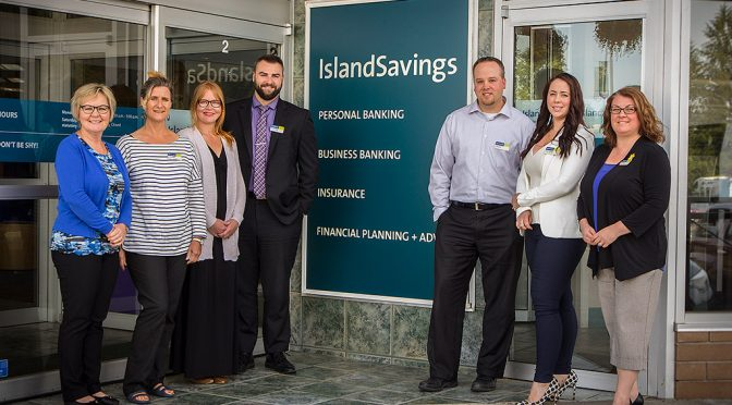 Island Savings team outside