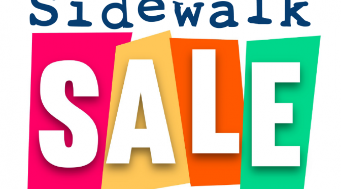 Sidewalk Sale – Success!