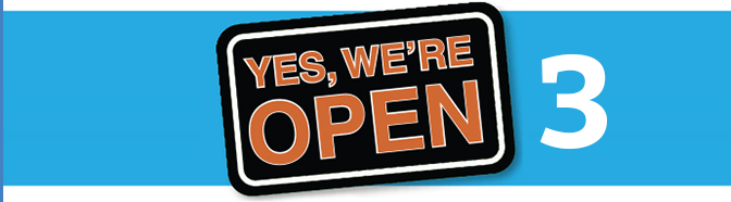We are open 3